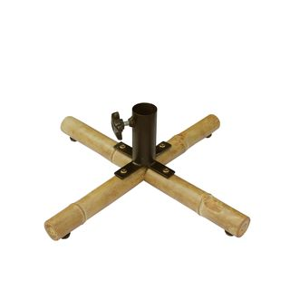 Zew Handcrafted Bamboo Patio Umbrella Base