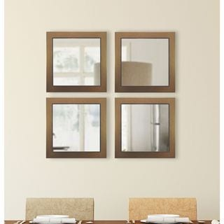 American Made Rayne Golden Lowe Square Mirror Sets