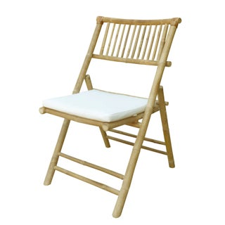Zew Handcrafted Natural Bamboo Chair (2 options available)