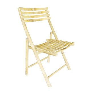 Zew Handcrafted Folding Bamboo Chair