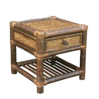 Zew Handcrafted Indoor Single-drawer Nightstand/ End Table
