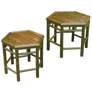 Zew Handcrafted Outdoor/ Indoor End Tables (Set of 2)
