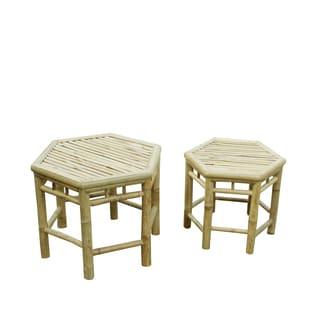 Zew Handcrafted Indoor/ Outdoor End Tables (Set of 2)