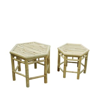 Zew Handcrafted Indoor/ Outdoor End Tables (Set of 2)