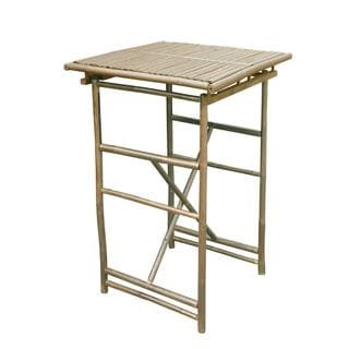 Zew Handcrafted Square Espresso Bar Height Table