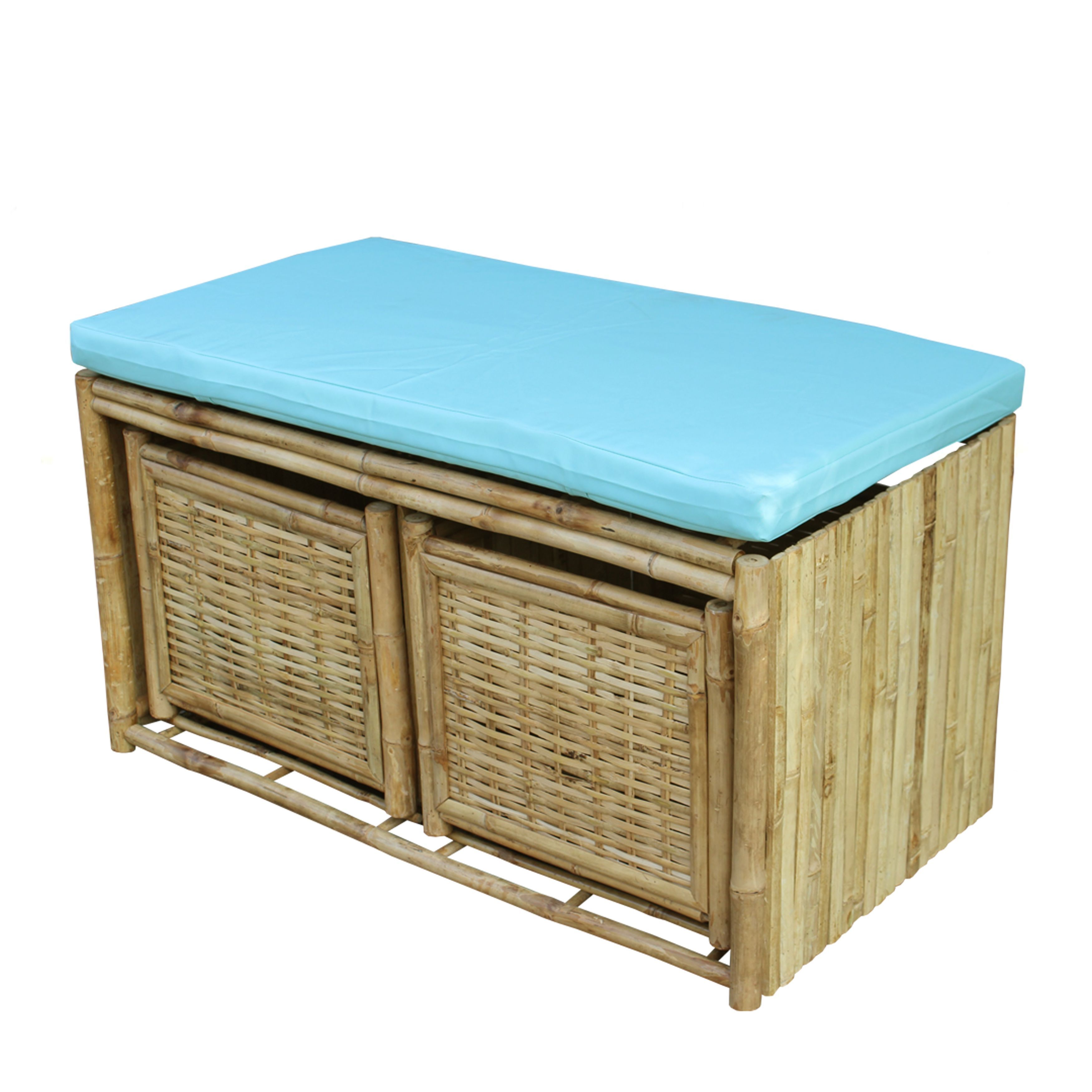 Zew Hand-crafted Bamboo Cubby Storage Entryway Bench (Sho...