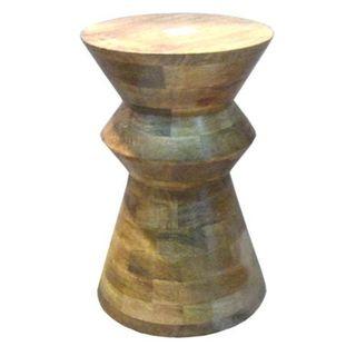 Benzara Heritage Beige Wooden Stool