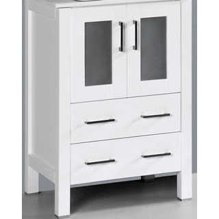 "24"" A-WH-24MC White Single Vanity Cabinet"