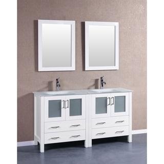 60-inch Bosconi AW230EWGU Double Vanity