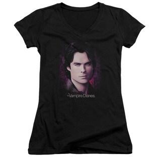 Vampire Diaries/Compelling Junior V-Neck in Black