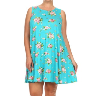 MOA Collection Women's Sleeveless Floral Dress