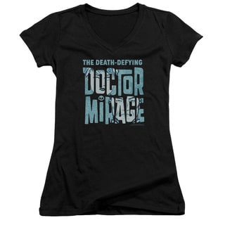 Doctor Mirage/Character Logo Junior V-Neck in Black