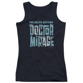 Doctor Mirage/Character Logo Juniors Tank Top in Black