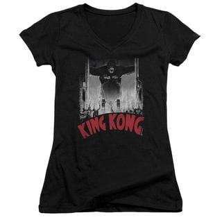 King Kong/At The Gates Poster Junior V-Neck in Black