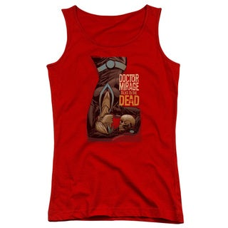 Doctor Mirage/Talks To The Dead Juniors Tank Top in Red