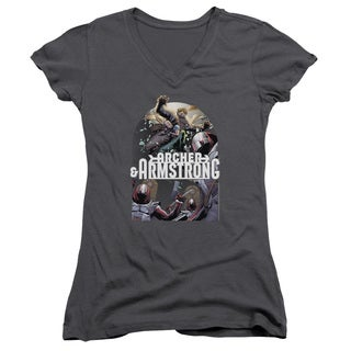 Archer & Armstrong/Dropping in Junior V-Neck in Charcoal