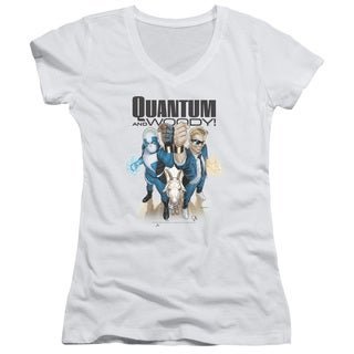Quantum and Woody/Quantum and Woody Junior V-Neck in White