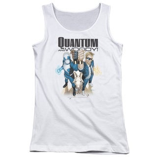 Quantum and Woody/Quantum and Woody Juniors Tank Top in White