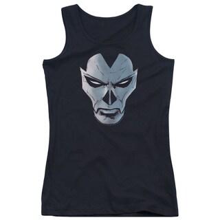 Shadowman/Comic Face Juniors Tank Top in Black