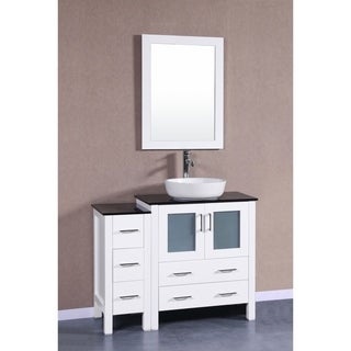 "42"" Bosconi AW130BWLBG1S Single Vanity"