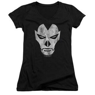 Shadowman/Face Junior V-Neck in Black
