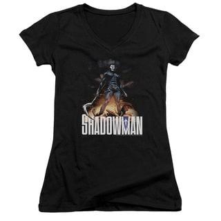 Shadowman/Shadow Victory Junior V-Neck in Black