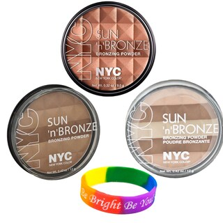 N.Y.C. Sun 2 3-piece Bronzing Powder Set with Dimple Bracelet