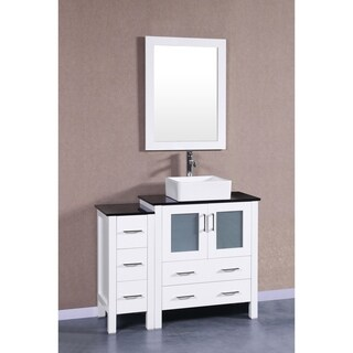 Bosconi AW130CBEBG1S 42-inch Single Vanity with Mirror and Faucet