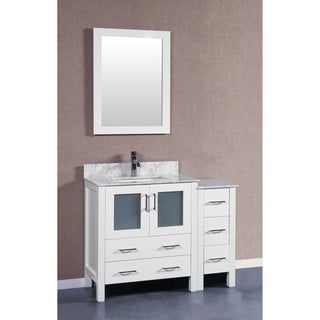 Bosconi AW130CMU1S 42-inch Single Vanity with Mirror and Faucet