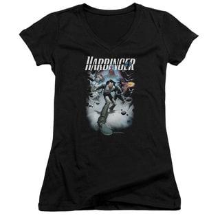 Harbinger/12 Junior V-Neck in Black