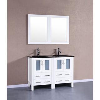 Bosconi AW224BGU 48 inch Double Vanity with Mirrors and Faucets. Size Double Vanities Wall Mirror Bathroom Vanities  amp  Vanity