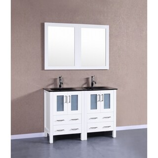 Bosconi AW224BGU 48-inch Double Vanity with Mirrors and Faucets