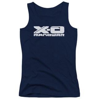 Xo Manowar/Logo Juniors Tank Top in Navy