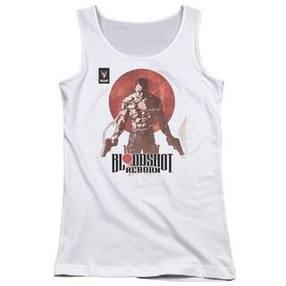 Bloodshot/Reborn Juniors Tank Top in White