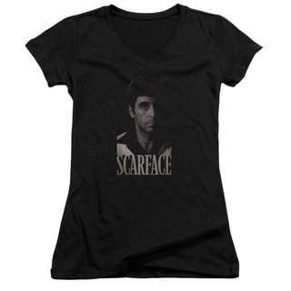 Scarface/B&W Tony Junior V-Neck in Black