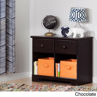 South Shore Summer Breeze Washed Blue/Brown Laminate 2-drawer Double Nightstand (3 options available)