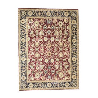 Somette Hand-knotted Kashan Red Oriental Wool Rectangular Area Rug (10' x 14')