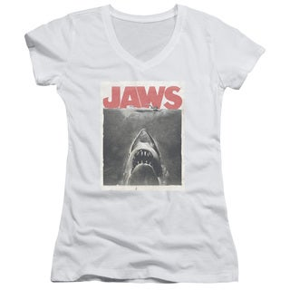 Jaws/Classic Fear Junior V-Neck in White