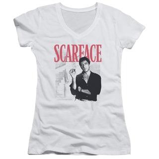 Scarface/Stairway Junior V-Neck in White
