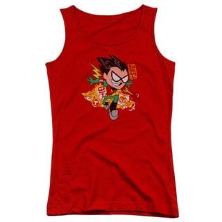 Teen Titans Go/Robin Juniors Tank Top in Red