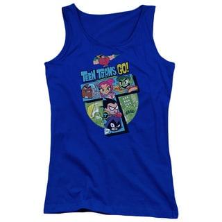 Teen Titans Go/T Juniors Tank Top in Royal Blue