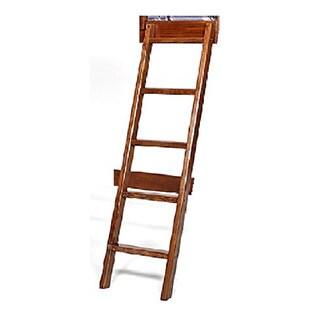 Woodcrest Heartland Brown Pine 5-Step Bunk Ladder
