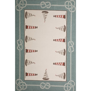 Christopher Knight Home Roxanne Sailor Indoor/Outdoor Blue Rug (7' x 10')