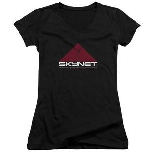 Terminator 2/Skynet Junior V-Neck in Black