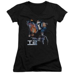 Terminator 2/Battle Junior V-Neck in Black