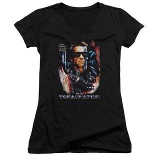 Terminator/Your Future Junior V-Neck in Black