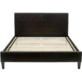 Hanover Downtown Brown Leather Twin Platform Bed