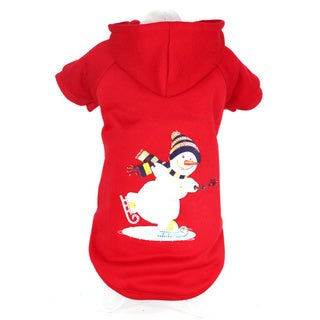 Pet Life LED Lighting Red Holiday Snowman Dog Sweater