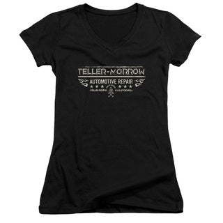 Sons Of Anarchy/Teller Morrow Junior V-Neck in Black