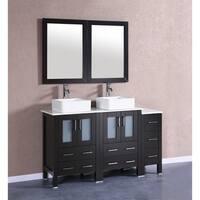 """60"""" Bosconi AB224CBEPS1S Double Vanity"""